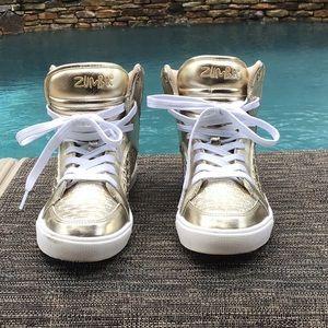 Zumba high top shoes.